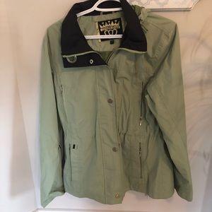 Charlotte Russe Raincoat Light Green Size S